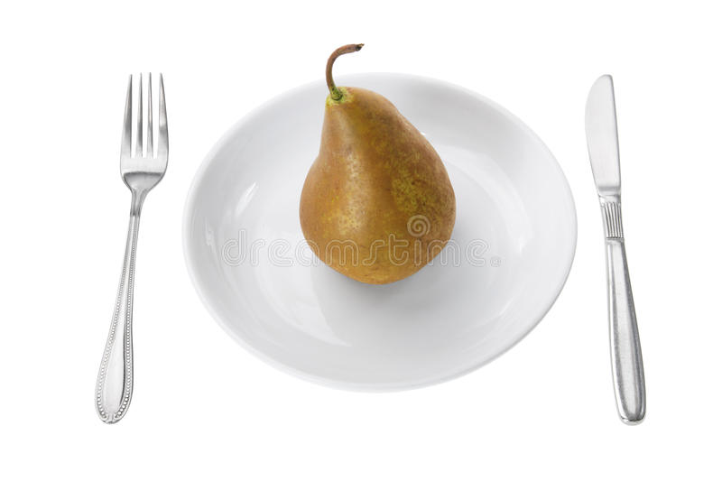 Download Pear On Plate Royalty Free Stock Photography - Image: 20062437