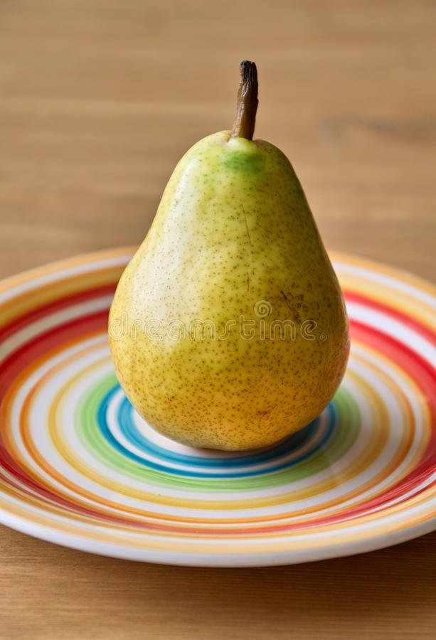 Download Pear on the plate stock photo. Image of pear, green, vegeterian - 31200352