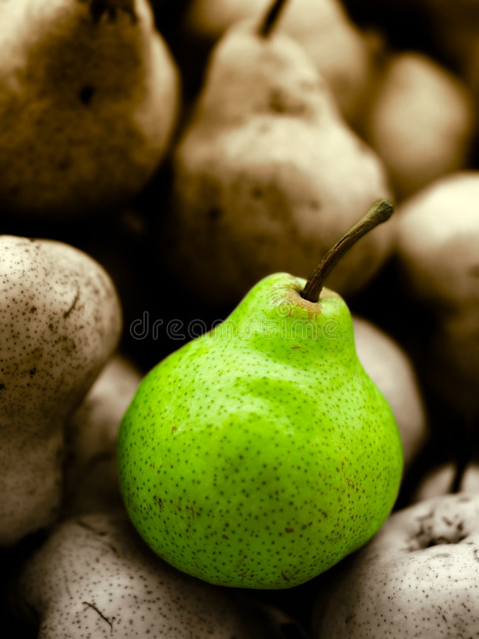 Pear Portrait royalty free stock photography