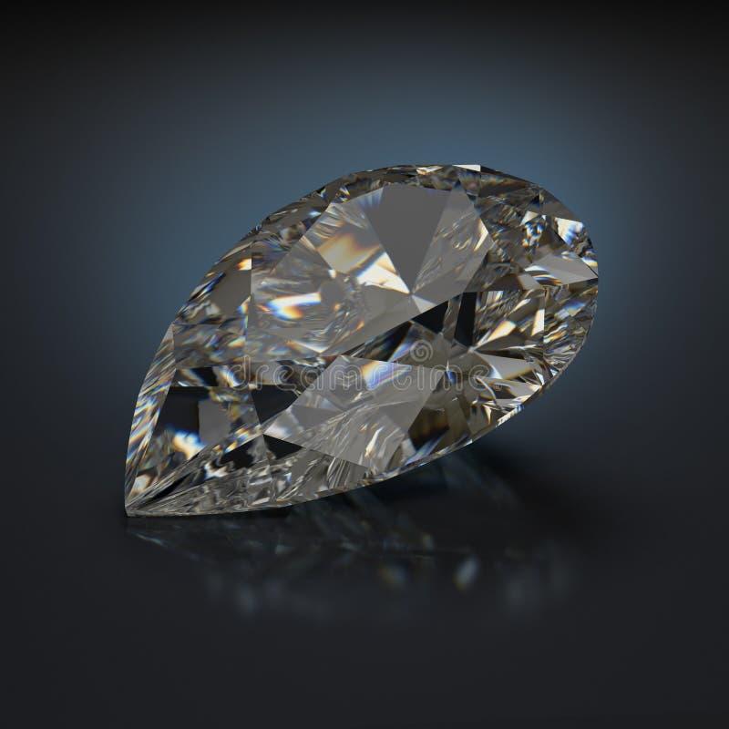 Pear shaped diamond royalty free illustration