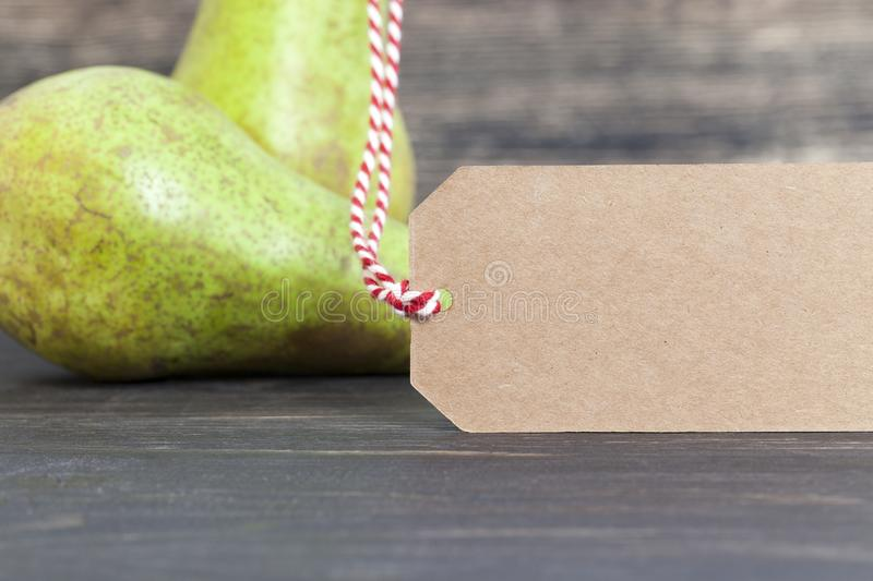 pear in a store royalty free stock image