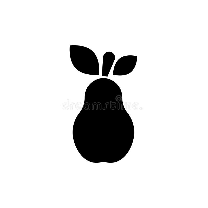 Pear vector icon royalty free illustration