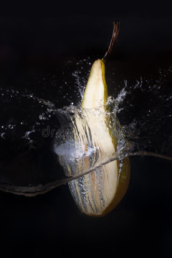 Download Pear in the water stock photo. Image of clear, green - 74758078