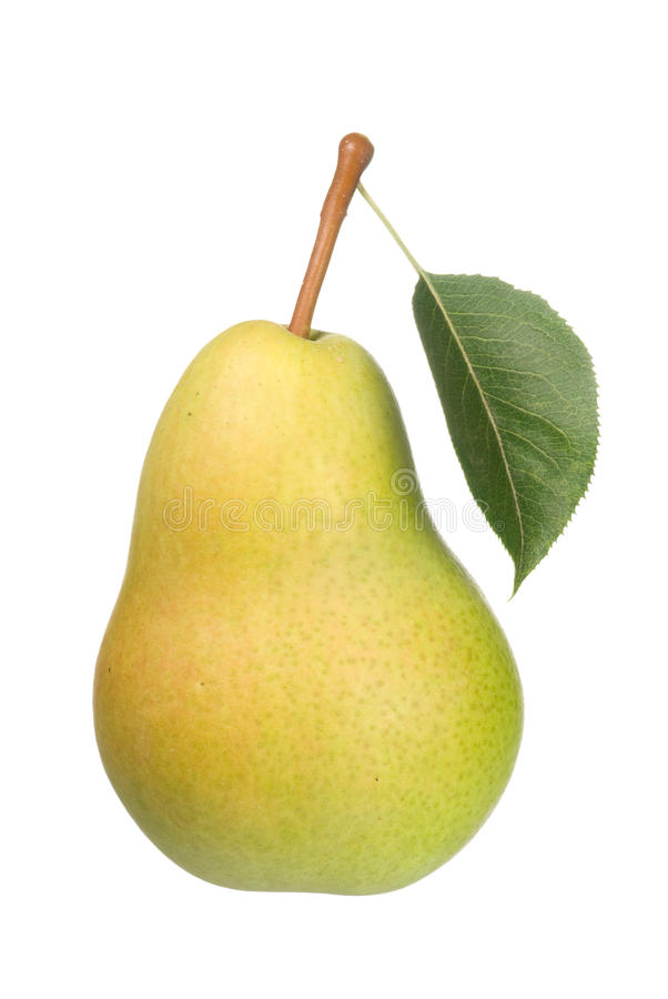 Pear on white stock images