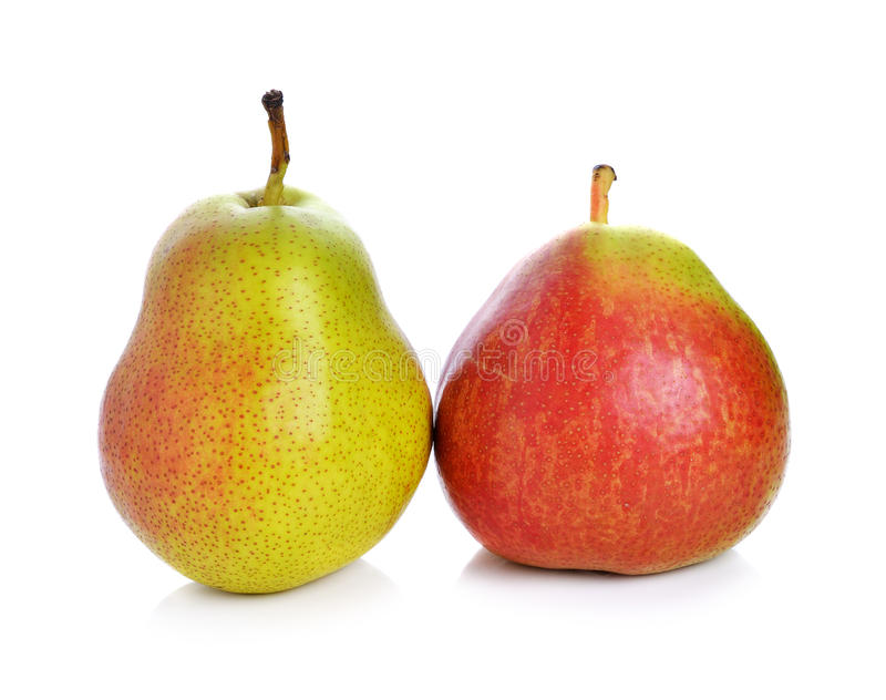 Pear. On white background stock photography