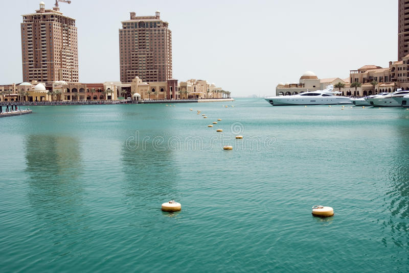 The Pearl. Luxury real estate in Doha royalty free stock photo