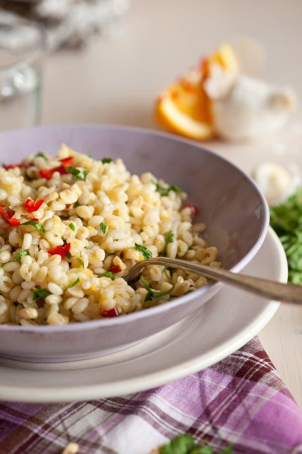 Download Pearl barley salad stock image. Image of colorful, pearl - 23416399