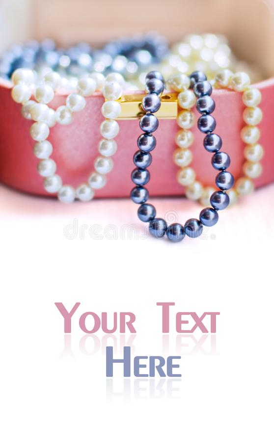Pearl beads stock photography