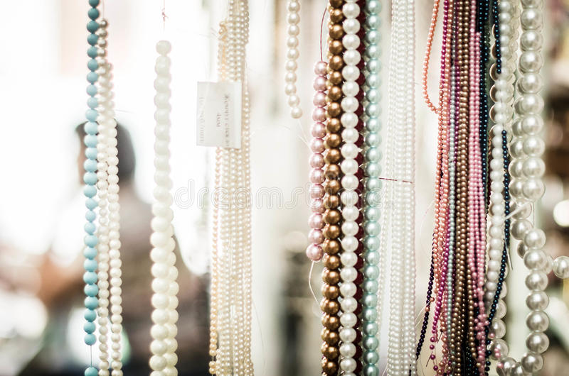 Pearl Beads stock image