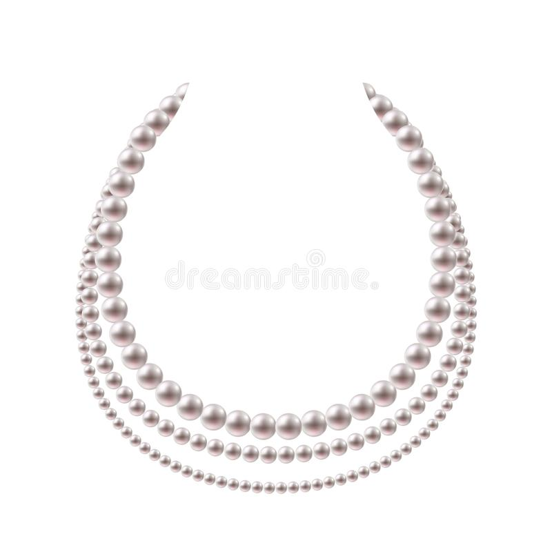 Free Pearl Beads Necklace Design. Stock Photography - 113054022