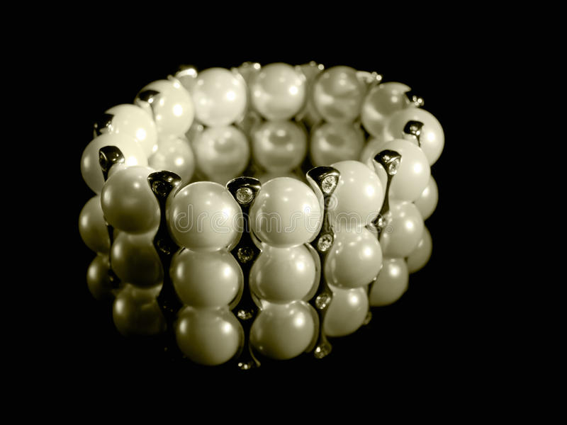 Download Pearl bracelet stock image. Image of glamour, bracelet - 16872473