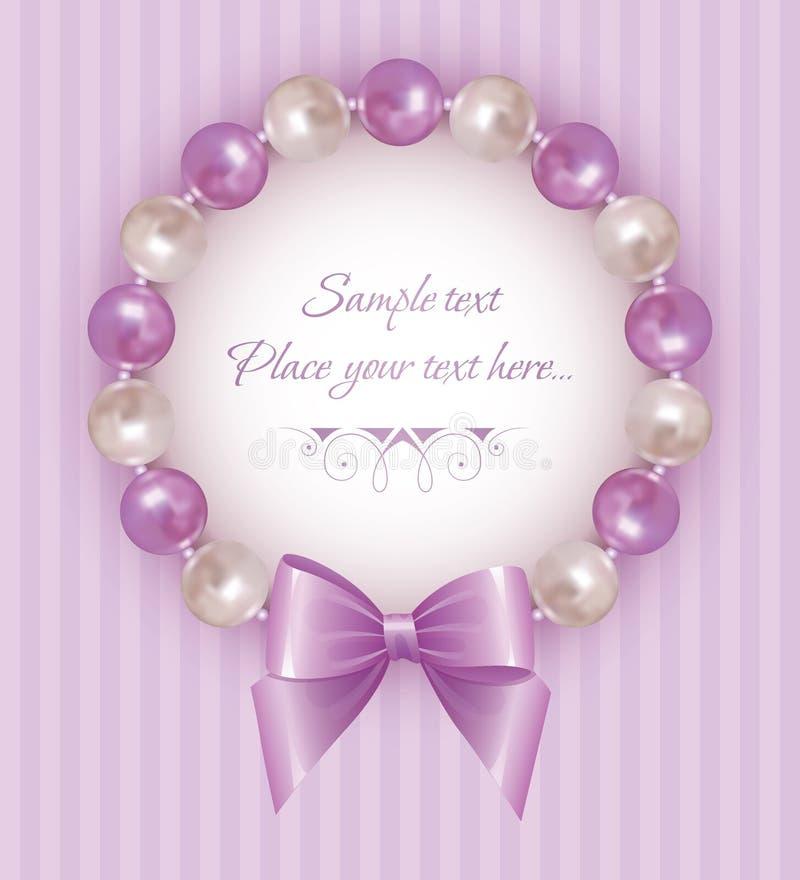 Pearl bracelet royalty free illustration