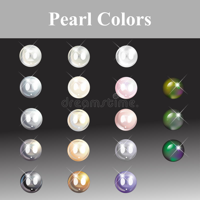 Pearl Colors Painting A Jewelry Designer. Stock Illustration ...