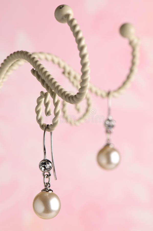 Download Pearl Earrings stock image. Image of pink, twisted, rope - 9564195