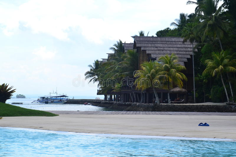 Pearl Farm Resort at Davao. Serene and quiet place for resting and relaxation royalty free stock image