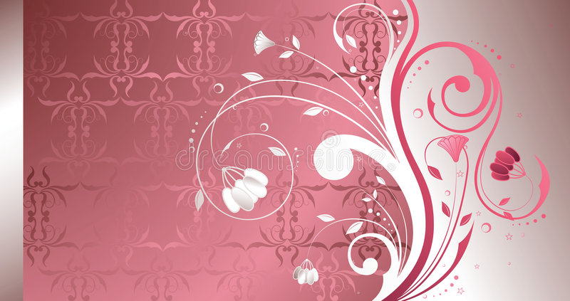 Pearl Floral stock illustration
