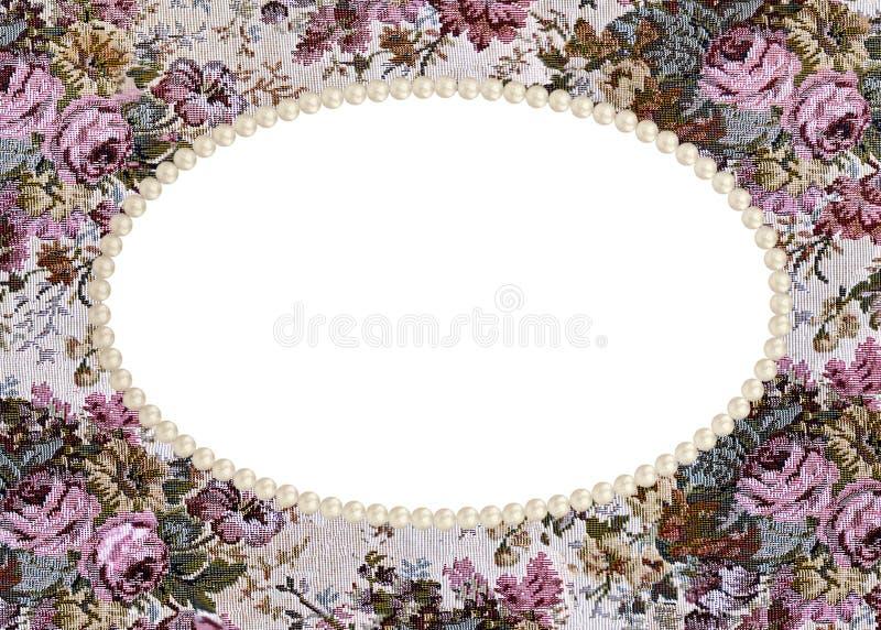 Download Pearl frame on tapestry stock illustration. Image of frame - 30376944