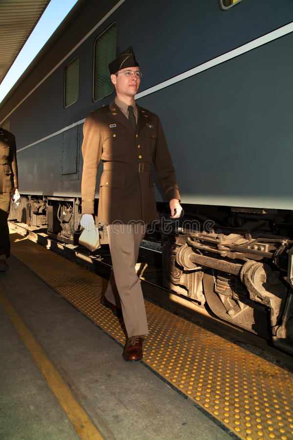 Pearl Harbor Day Troop Train Editorial Photo