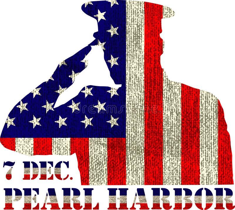 Pearl Harbor Dia da relembrança ilustração do vetor