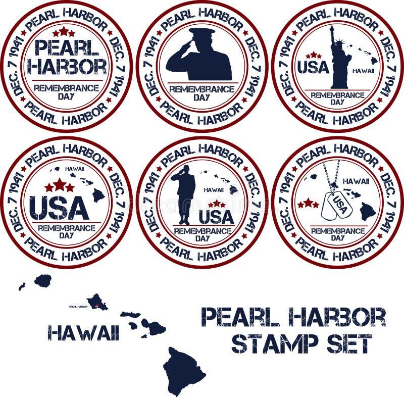 Pearl Harbor Giorno di ricordo royalty illustrazione gratis