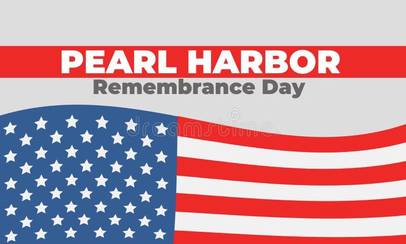 Pearl- Harborerinnerungs-Tag am 7. Dezember 1941, 2017 stockbild
