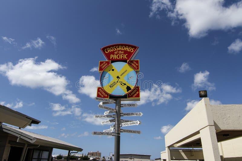 Pearl Harbour rozdroża pokojowy znak obraz stock