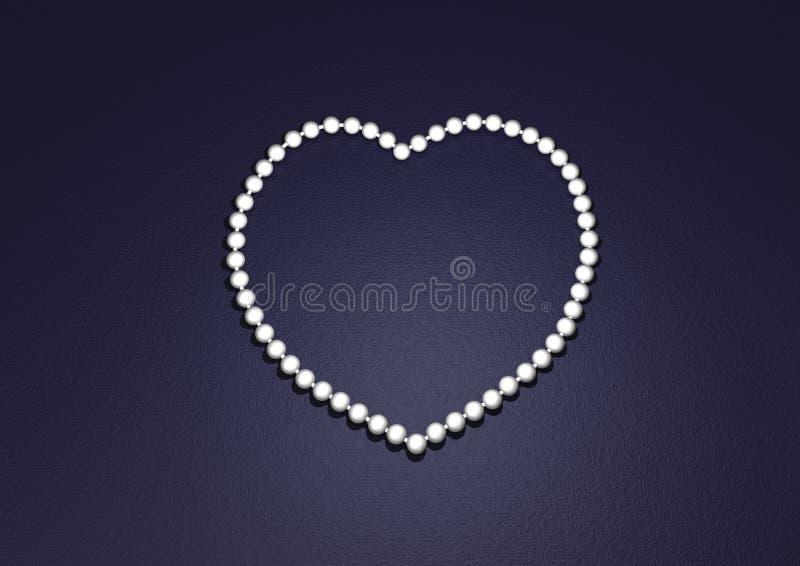 Pearl heart stock photo