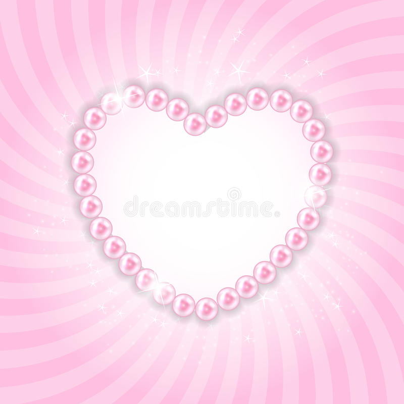 Free Pearl Heart Vector Illustration Background Stock Photography - 44276402