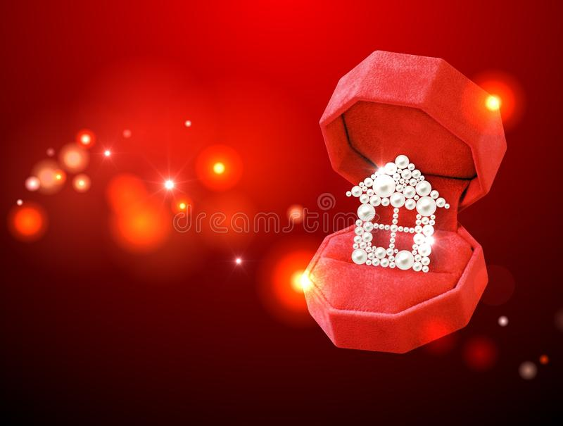 Pearl house in the red box stock photos