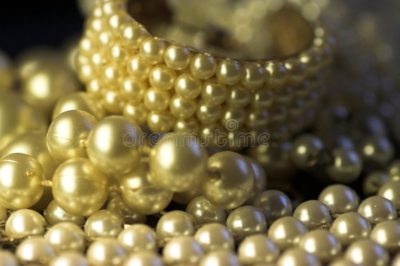 Pearl jewelry, close-up royalty free stock image