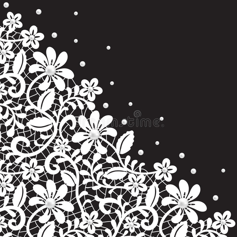 Pearl and lace border royalty free stock photos image for Border lace glam