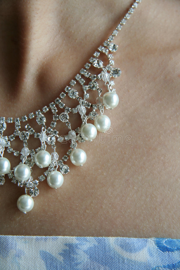 Download Pearl neck-less stock photo. Image of pearls, skin, woman - 1475834
