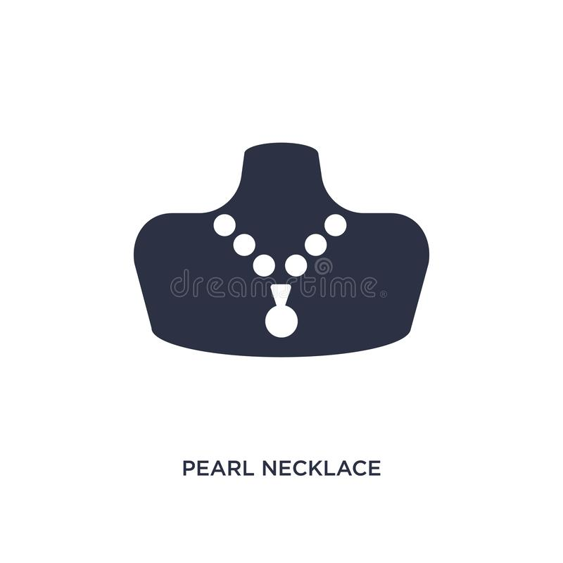 pearl necklace icon on white background. Simple element illustration from jewelry concept stock illustration