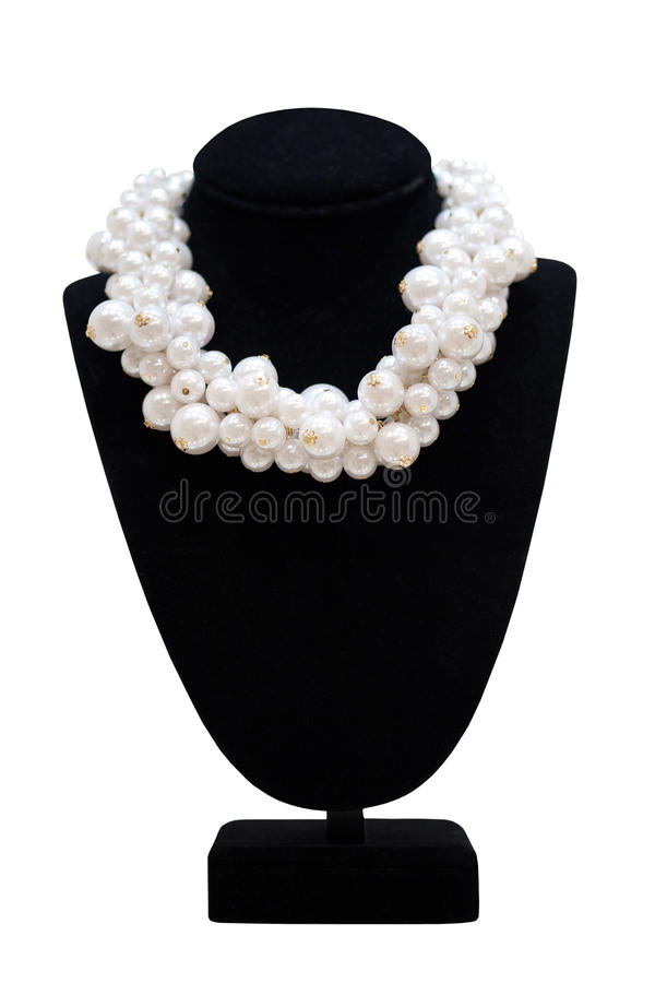 Download Pearl Necklace On Mannequin Stock Photo - Image: 38238552