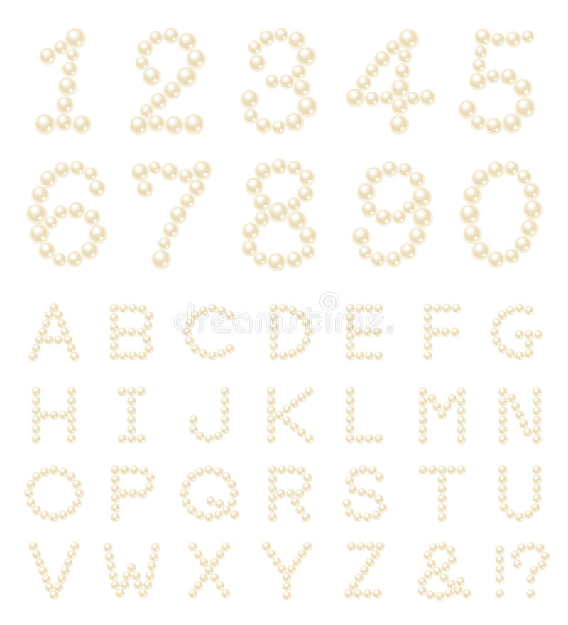 Download Pearl number alphabet stock vector. Illustration of alphabetical - 17818889
