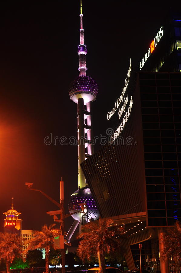 Pearl Oriental Tower royalty free stock photography