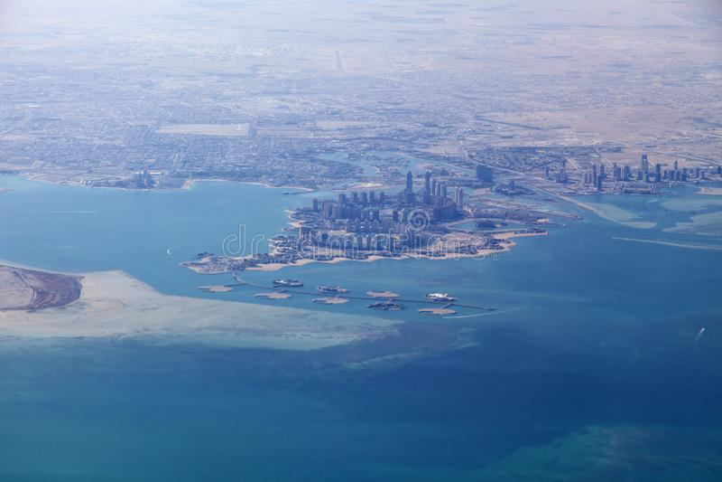 The Pearl-Qatar in Doha. Doha, Ad-Dawhah, Qatar royalty free stock photos