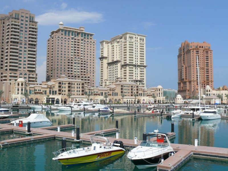 The Pearl, Qatar. Man-made island luxury development, Doha, Qatar stock photography