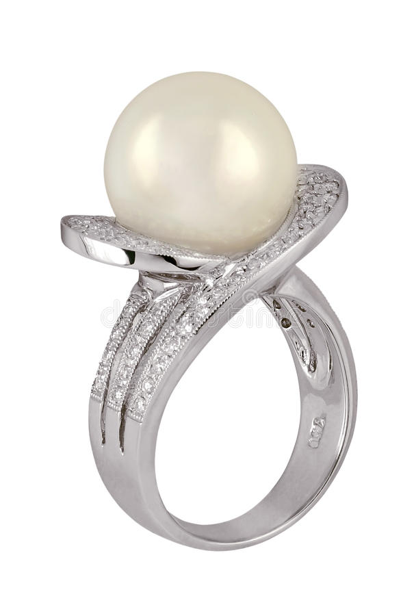 Pearl ring stock photography