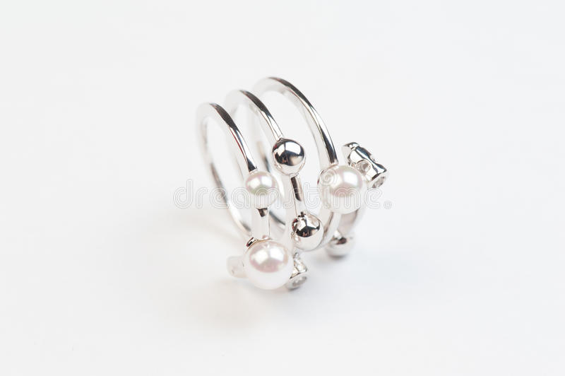 Pearl ring royalty free stock image
