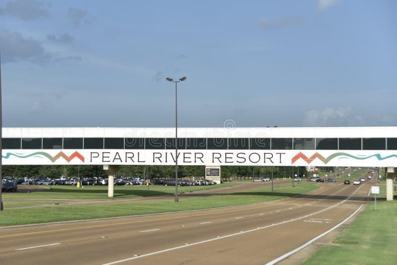 Pearl River Erholungsort-Steg, Choctaw, Mississippi stockfotos