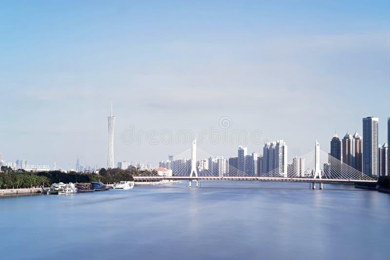 Pearl River et bâtiments photo libre de droits