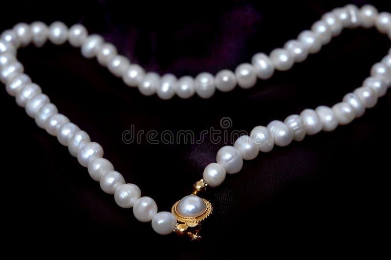 pearl satin czarny zdjęcie stock