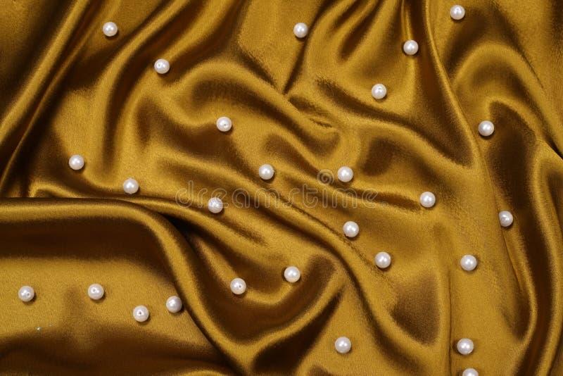 pearl satin złoto obrazy royalty free