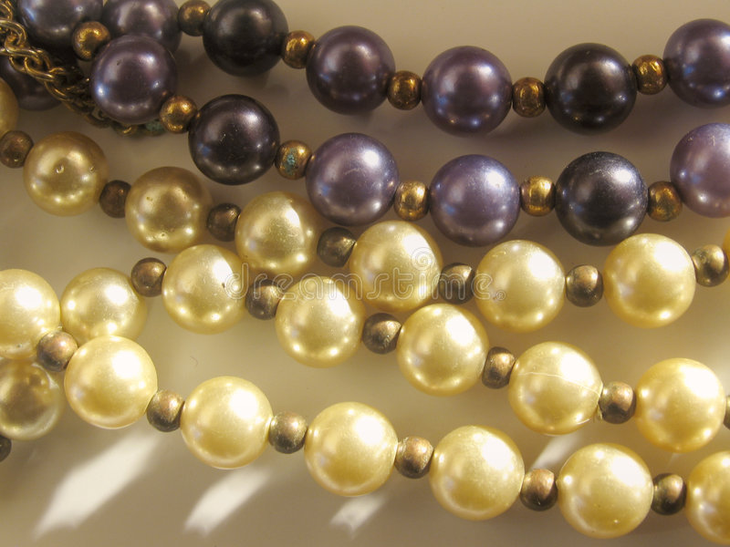 Pearl strands stock photography