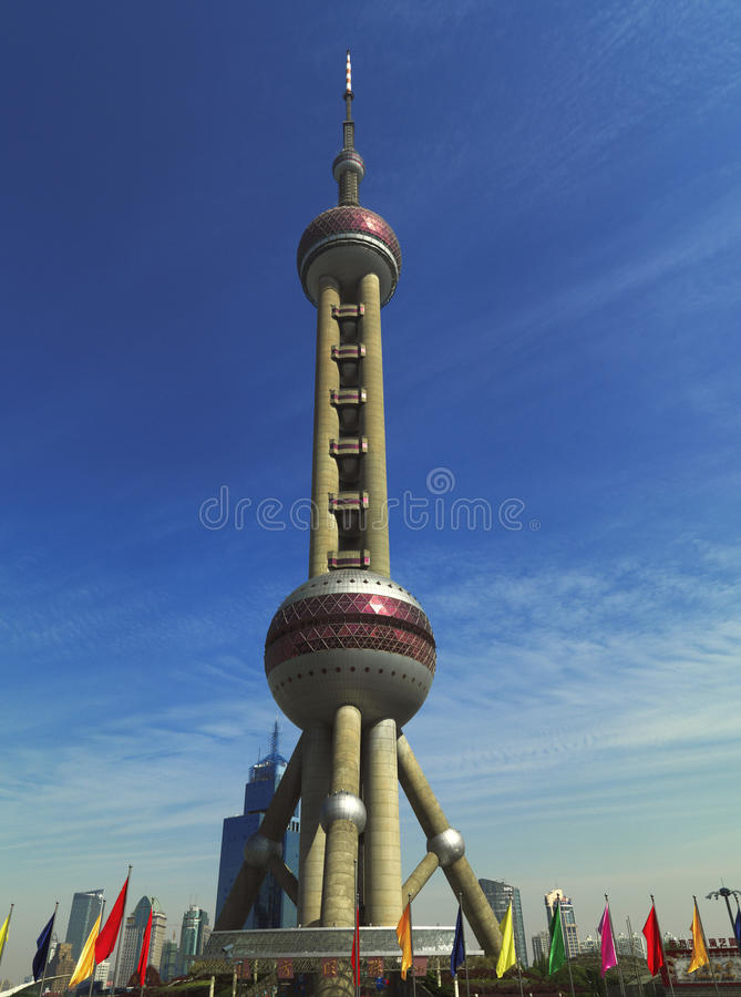 Pearl Tower, Shanghai, People's Republic of China royalty free stock photo