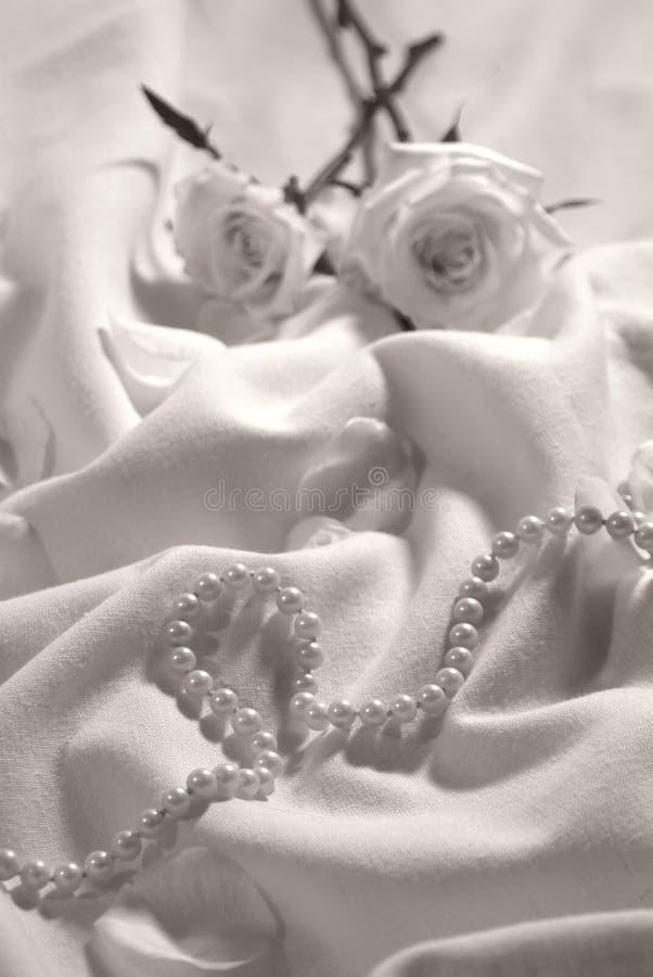 pearls розы стоковая фотография rf
