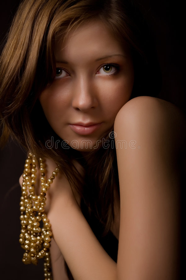 Download Pearls stock photo. Image of eyelash, face, adolescence - 3025476