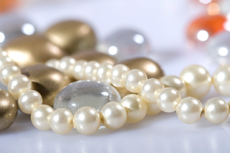 Download Pearls and Beads stock photo. Image of strung, macro, jewelry - 5596398