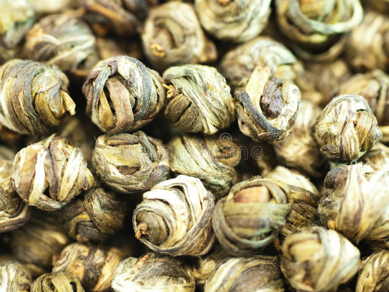 Download Pearls Of Chinese Green Tea Stock Image - Image of heap, close: 14706349